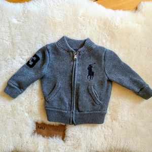 Polo Ralph Lauren Zip Sweater #3 Pony Logo 9M